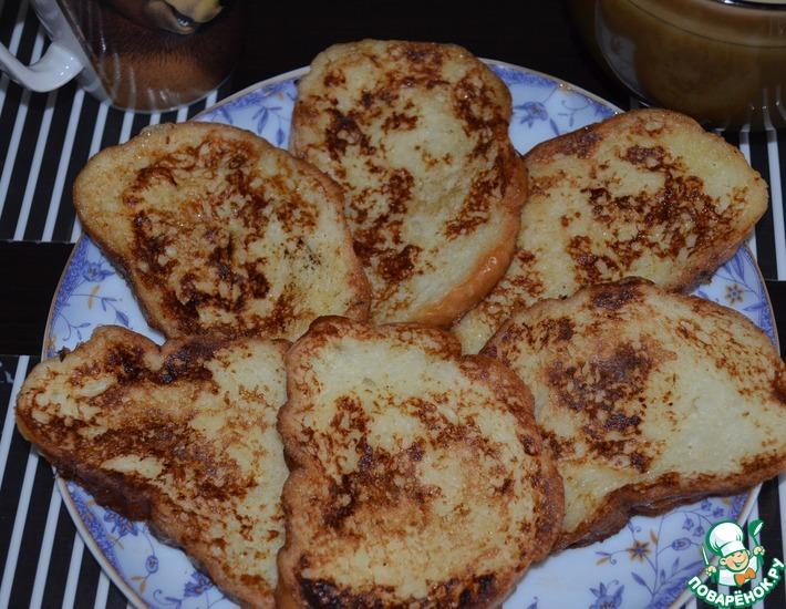 Рецепт: Сладкие гренки Булочники на завтрак