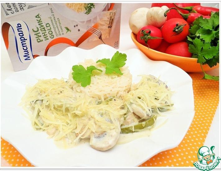 Рецепт: Куриное филе в сливочно-сырном соусе