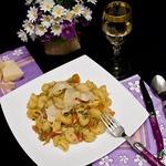 Паста с тунцом и овощами
