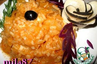 Рецепт: Болгарское блюдо Зеле с ориз