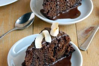 Рецепт: Шоколадный пирог с перчинкой (постный)