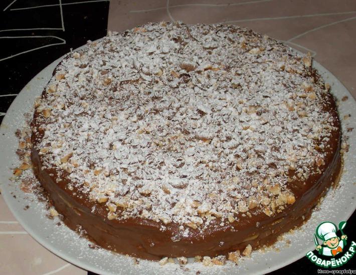 Рецепт: Торт Крепвиль