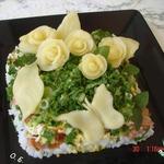 Салат Сырный букет