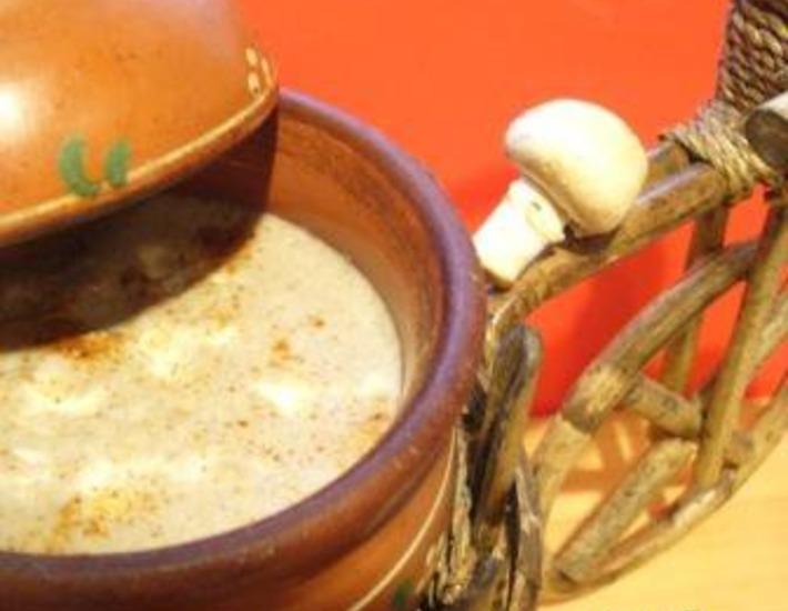 Рецепт: Крем-суп из шампиньонов