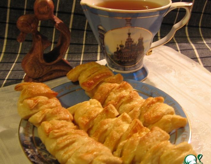 Рецепт: Печенье Теплый вечер с ананасом и дыней