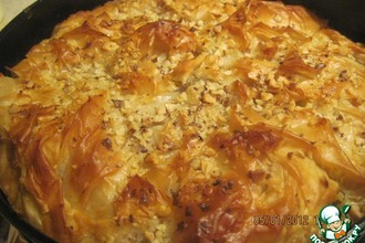 Рецепт: Яблочный пирог из теста фило
