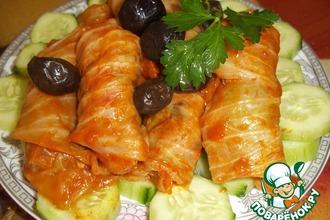 Рецепт: Голубчики с морковью и грецкими орехами