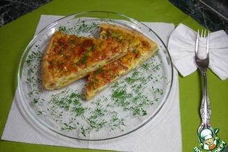 Рецепт: Песочный пирог с грудинкой и сыром