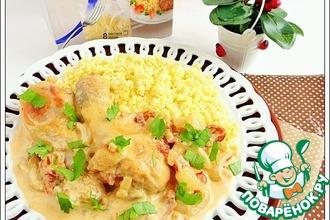 Рецепт: Курица в соусе с вялеными томатами