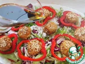 Овощной салат с ароматным рисом и шариками из кабачков – кулинарный рецепт