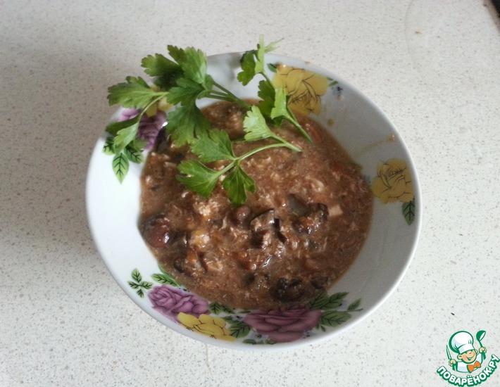 Рецепт: Тыквенно-грибной суп