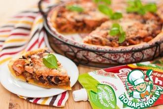 Рецепт: Пирог с фасолью и беконом