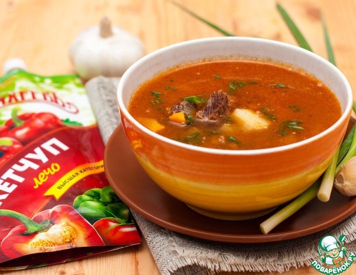 Рецепт: Венгерский суп-гуляш с говядиной