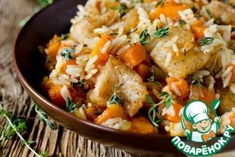 Рецепт: Рис с тыквой и рыбой