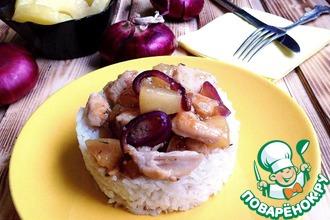 Рецепт: Куриное филе с ананасами и тимьяном