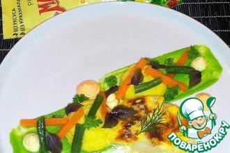 Рецепт: Палтус под сырно-майонезным кремом