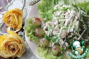 Рецепт Салат с отварной курицей и виноградом