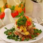 Филе красного окуня с овощами