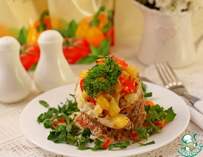 Рецепт: Филе красного окуня с овощами