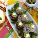 Холодная закуска-шарики из свеклы с грибами