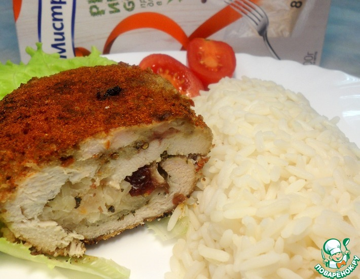 Рецепт: Куриная грудка с квашеной капустой