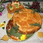 Быстрый заливной пирог с печенью Народный