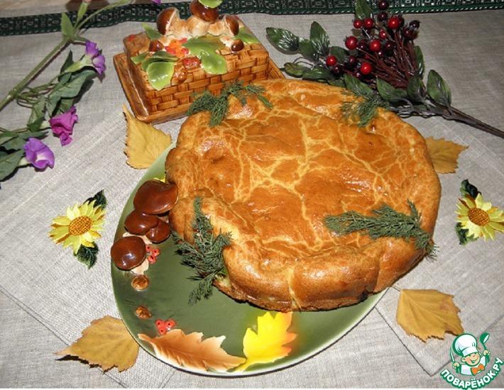 Рецепт: Быстрый заливной пирог с печенью Народный