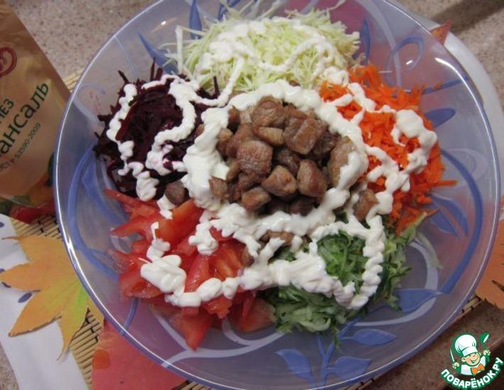 Рецепт: Салат Ералаш