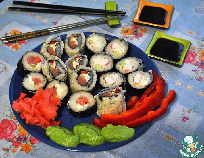 Рецепт: Домашние роллы и нигири суши