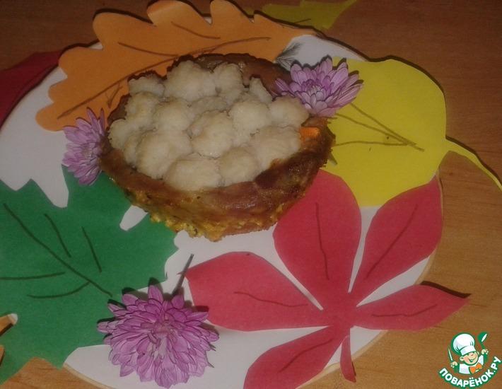 Рецепт: Мясное лукошко с луковыми колечками