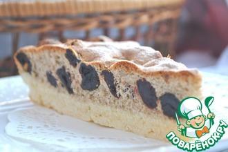 Рецепт: Вишневый пирог с кунжутной мукой