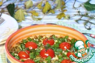 Рецепт: Запеканка из кабачка и зелёного горошка