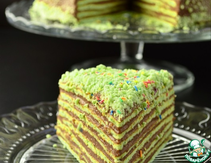 Рецепт: Торт «Шпинат-шоколад»
