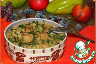 Рецепт: Баранина с яблоками