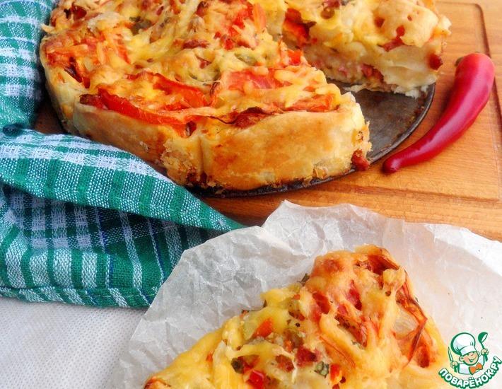 Рецепт: Пицца Донна Роза
