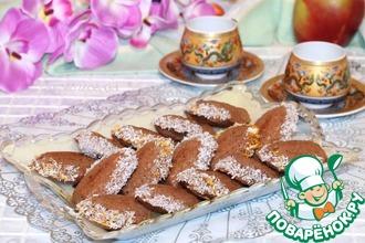 Рецепт: Печенье шоколадное на майонезе «Моментальное»