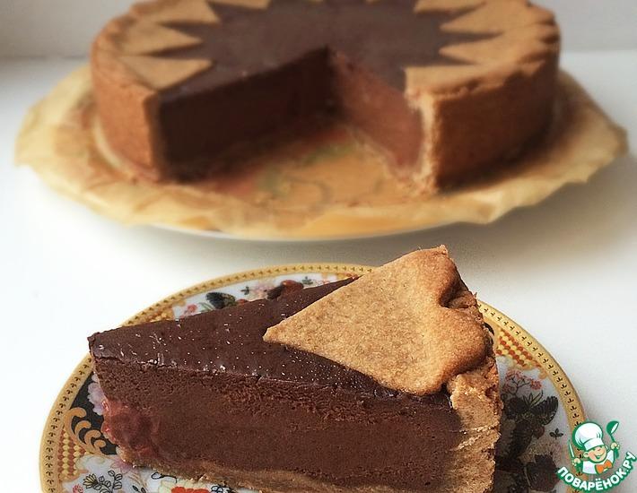 Рецепт: Шоколадный пирог с шоколадным крем-муссом