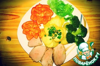 Рецепт: Буженина по-домашнему с чесноком и картошкой