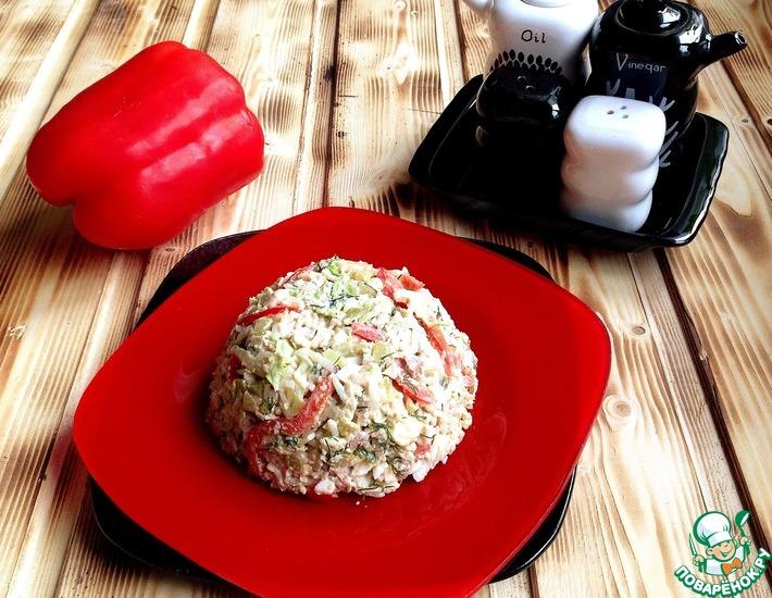 Рецепт: Салат из печени трески Потрясающий