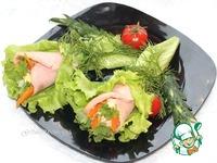 Конвертики из ветчины с салатом ингредиенты