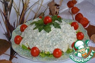 Рецепт: Салат из форели с беконом и авокадо
