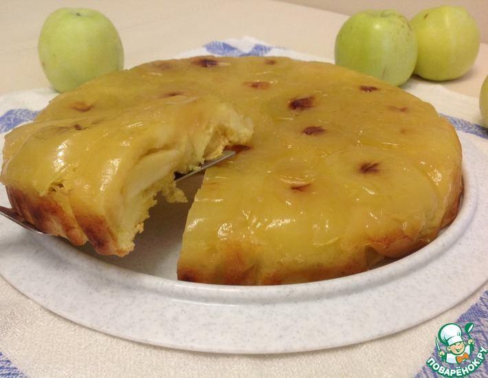 Рецепт: Янтарный яблочный пирог