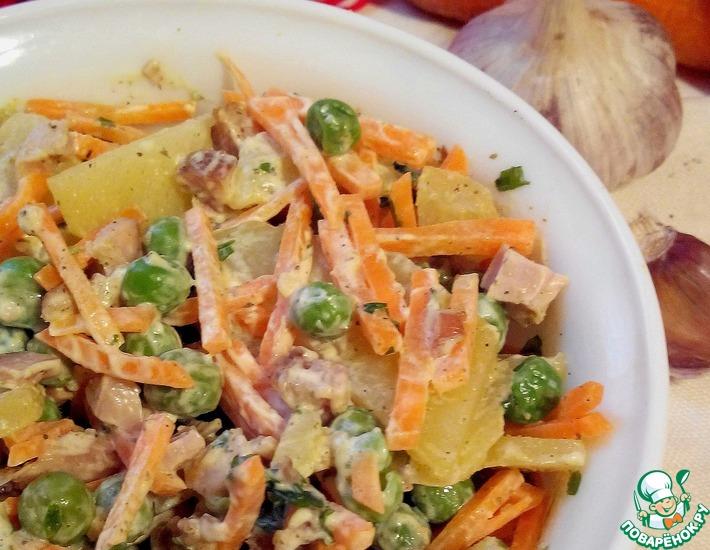 Рецепт: Салат картофельный Необычная обычность