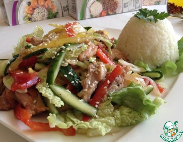 Рецепт: Салат куриный с битыми овощами