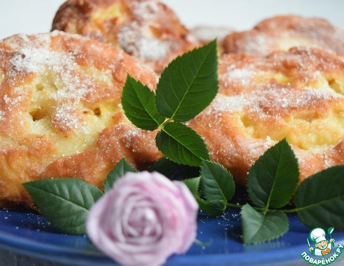 Рецепт: Яблочные пончики-завитушки