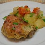 Запеченная курица с картошкой