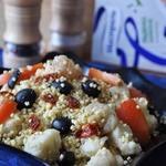 Острый салат с пшеном и цветной капустой