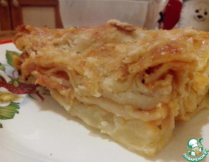 Рецепт: Лазанья Два соуса