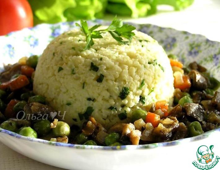 Рецепт: Овощное рагу с грибами и пшенкой