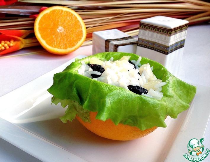 Рецепт: Салат с рисом, изюмом и ананасом